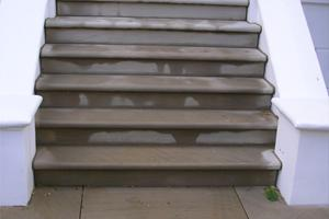 New yorkstone bull nose steps