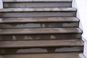 Bull nose yorkstone steps and risers