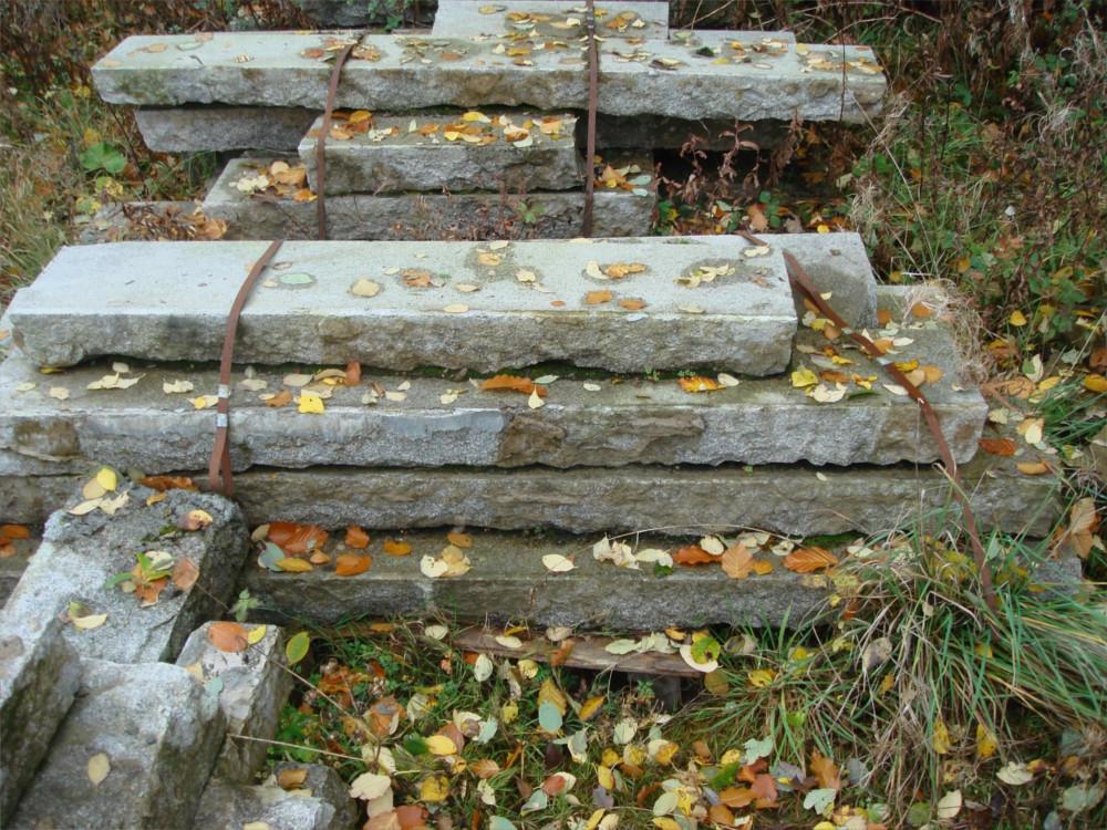 Reclaimed granite steps in stock