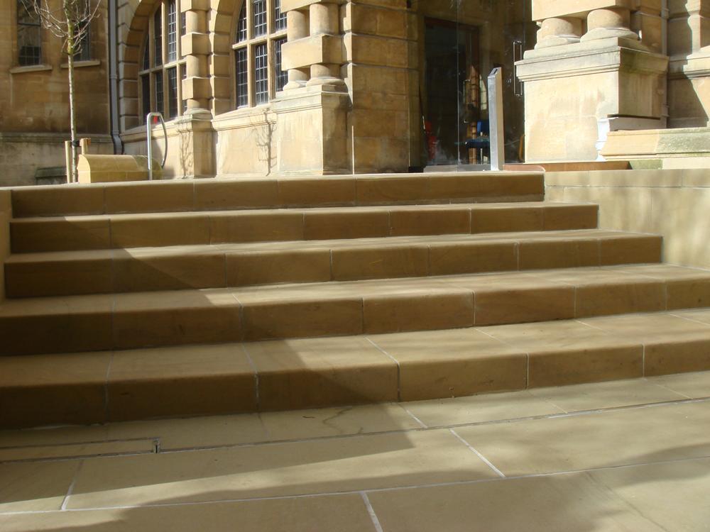 New sawn York stone steps