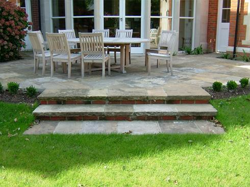 Projects 01629 650647 paul yorkstone for Terrace steps