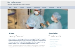 Henry Dowson - web design by Toolkit Websites, Southampton