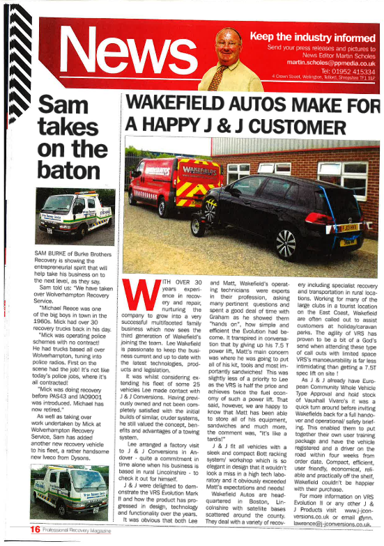 Wakefield Autos make for a happy J&J customer