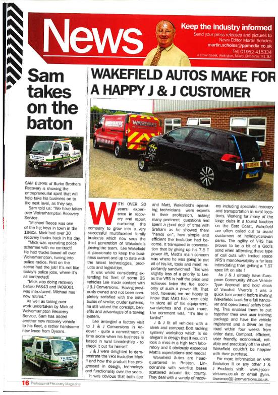 Wakefield Autos make for a happy J&J customer