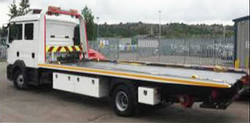 12T MAN Crew cabs (13) Plate Dave Bland Steel ULA body & second car lift