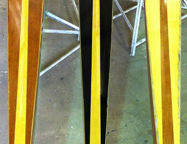 three different deck veneers