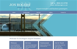 John Rogers Airport Transfers - Taxi website design by Toolkit Websites, Southampton