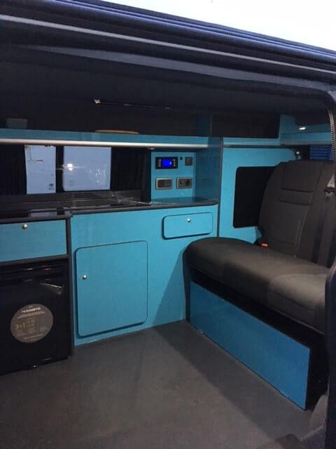 Blue Van Conversion Seats
