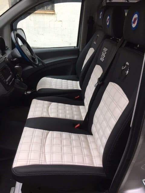 Inside of Van Conversion, clean seated area