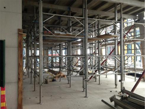 Aluminium shoring used for temporary propping applications.
