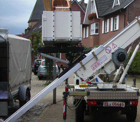 Relocation lifting in London - The Furniture Hoist Company