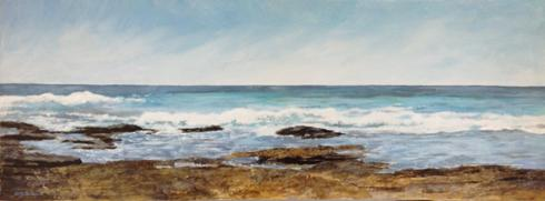 Atlantic beach, Ile de Sein\r\nAcrylic\r\n30x80 cm
