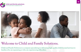 Child and Family Solutions - Counselling website design by Toolkit Websites, professional web designers
