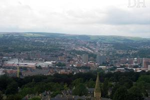 Sheffield from Sky Edge