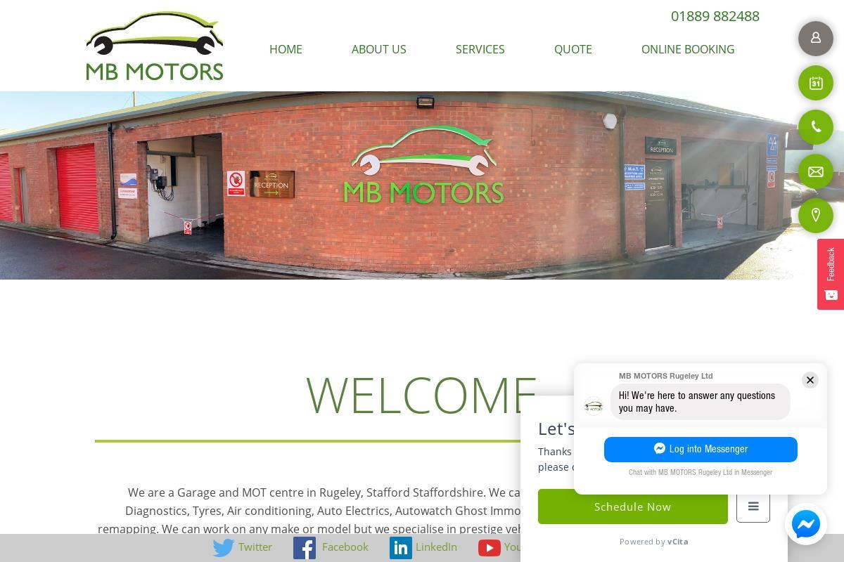Services : MB Motors Rugeley Ltd