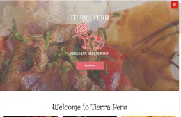 Tierra Peru - Restaurant website design by Toolkit Websites, professional web designers
