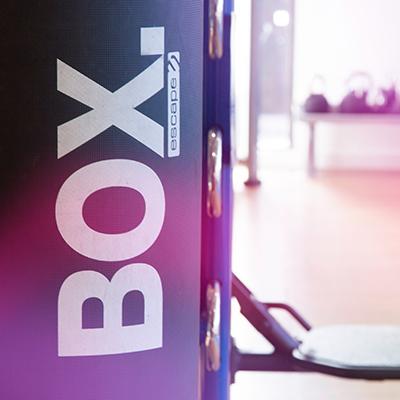 Boxersize equipment in gym