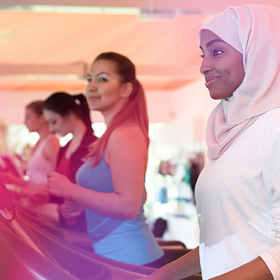 Ladies in Women only gym session