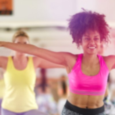 ladies stretching in abs blast class