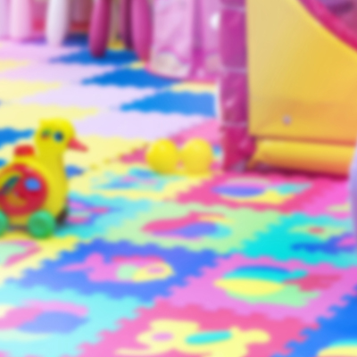 Colourful soft play area for children
