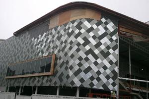 The Works 2 Theatre, Llanelli - Rheinzink shingle tile cladding - TRJ - £70,000