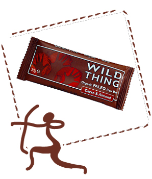 WILD THING Cacao & Almond organic snack bar