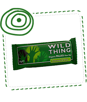 WILD THING Coconut & Chia organic snack bar