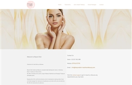 Beauty4life - website design by Toolkit Websites, Southampton