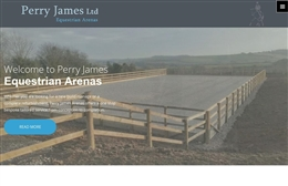 Perry James - Equestrian builder website design by Toolkit Websites, Southampton