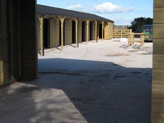 Concrete yard installation for stables