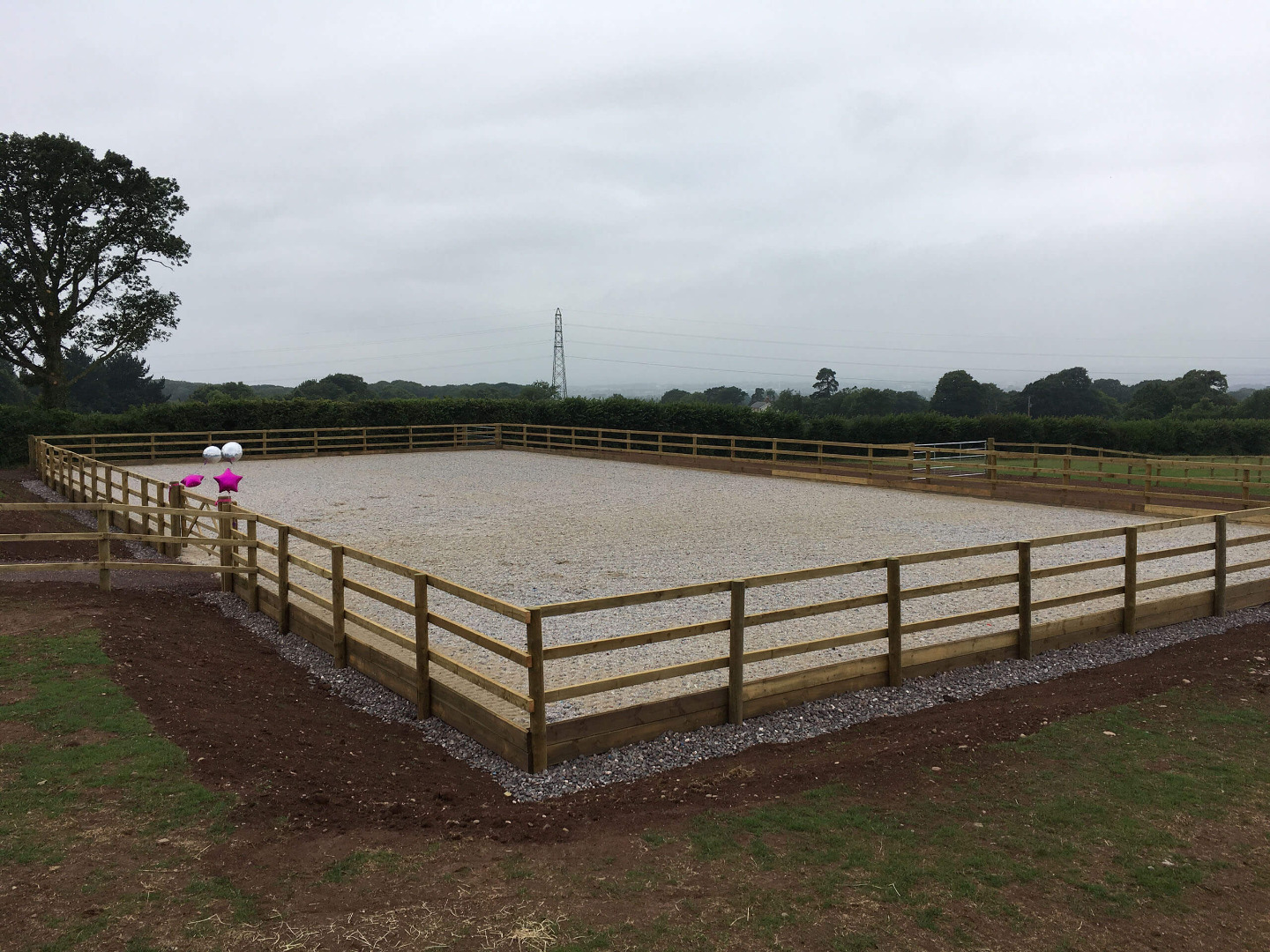 20m x 40m riding arena constructed near Exeter Devon