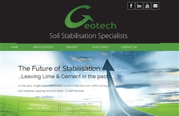 Geotech - Environmental website design by Toolkit Websites, Southampton