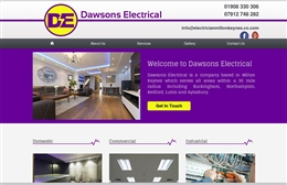 Dawsons Electrical - Electrican web design by Toolkit Websites, Southampton