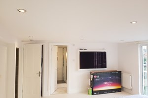 Lighting installation for a loft conversion in St. Albans, Hertfordshire