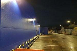 Outside lighting installed at Motorserv Wolverton, Milton Keynes