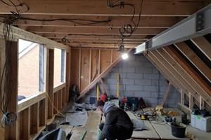 The first fix electrics for a loft renovation in Milton Keynes, Buckinghamshire