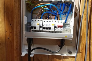 Electric supply and wiring for a garden room installation