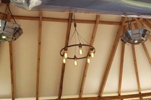 Garden room lighting and heating installation in Milton Keynes, Buckinghamshire