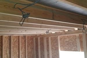 First fix electrics for a loft in Stewkley, Buckinghamshire