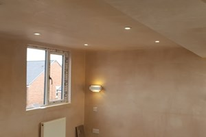 Lighting installed in loft conversion - electrics included main lights and bedside lights