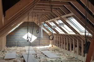 First fix electrics installed for a loft in Aylesbury, Buckinghamshire