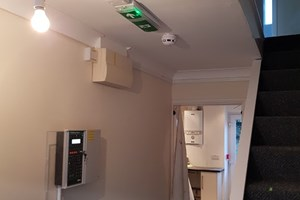 Fire alarm and emergency lighting installed in HMO