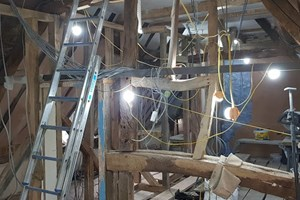 Wiring in a 17th-century barn conversion