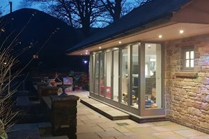 Lighting installed on a cottage in Cumbria