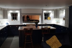Recent lighting / electrical installation in a gorgeous kitchen