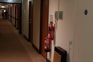 Installing emergency lighting at a Novotel Hotel