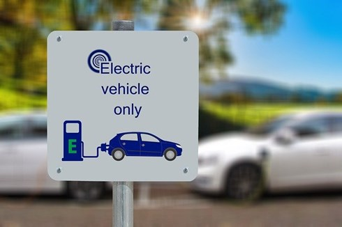image of electric vehicles only charging station