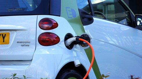 image of an electric car charging