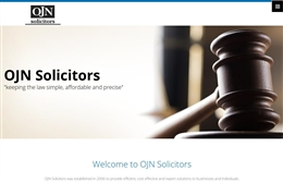 OJN Solicitors - Solicitor web design by Toolkit Websites, professional web designers