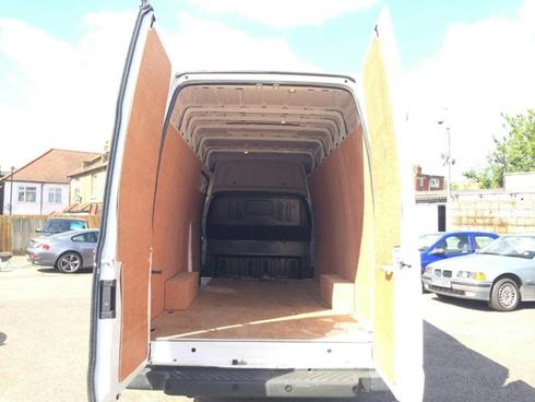 Man and Van Rear doors open